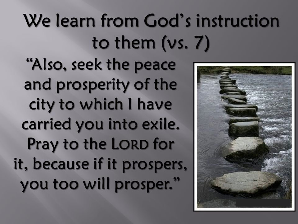 We learn from God's instruction to them (vs.