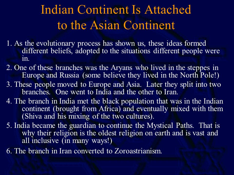 Indian Continent Is Attached to the Asian Continent 1.