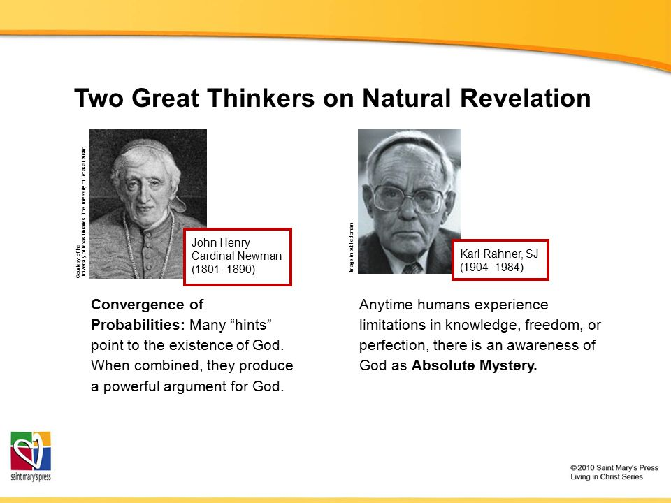 "Two Great Thinkers on Natural Revelation Convergence of Probabilities: Many ""hints"" point to the existence of God. When combined, they produce a power"
