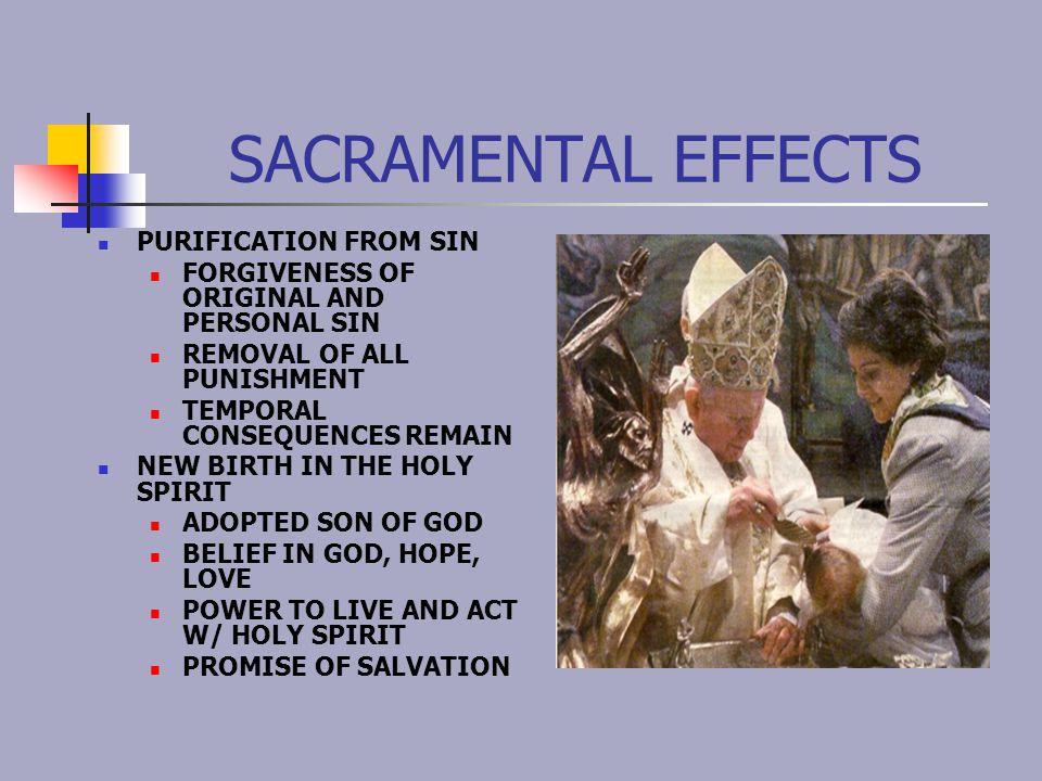 Profession of Faith Baptismal promises: Do you reject Satan.