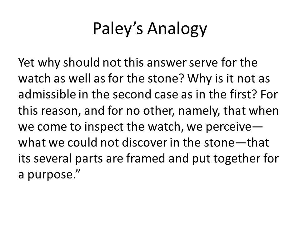 The Teleological Argument Premise 1.