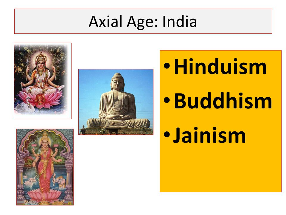 Axial Age: India Hinduism Buddhism Jainism