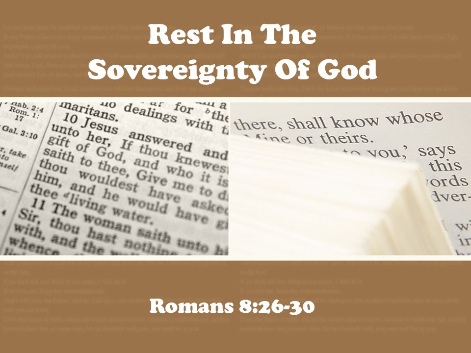 The Sovereignty of God God is our Eternal ruler God is our Involved ruler God is our Compassionate ruler
