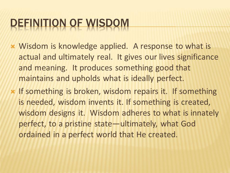  It is not arrogant to define Christian Education as true education.