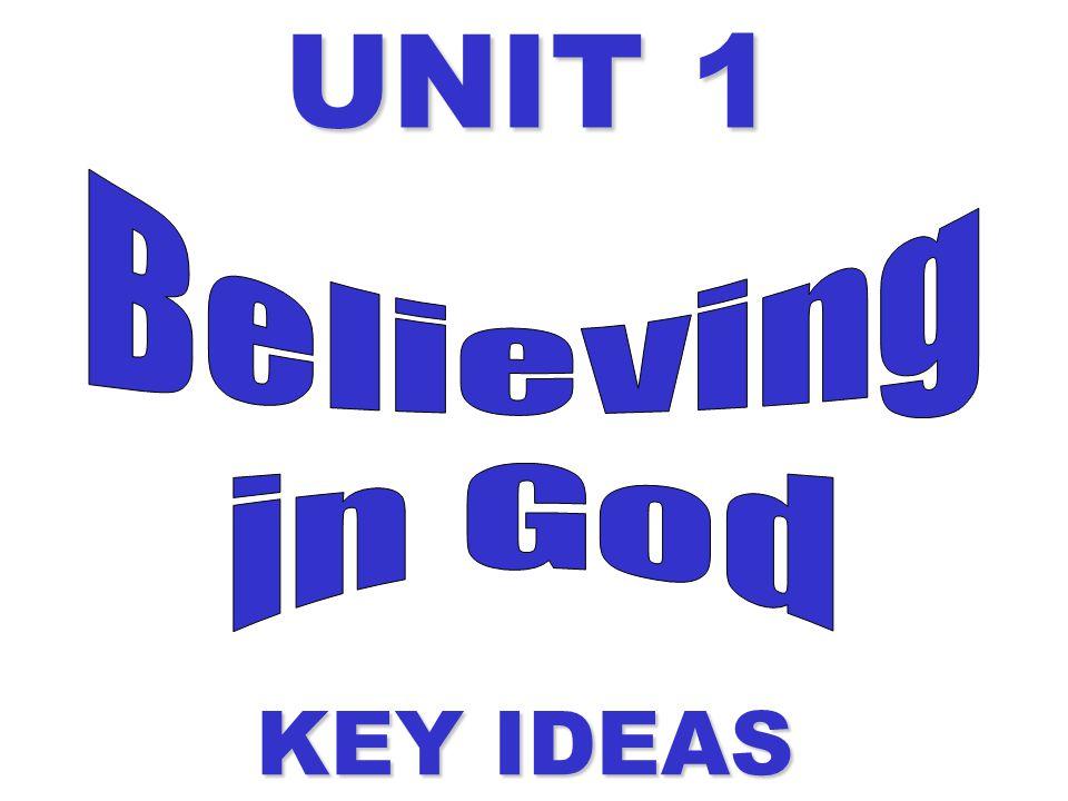UNIT 1 KEY IDEAS