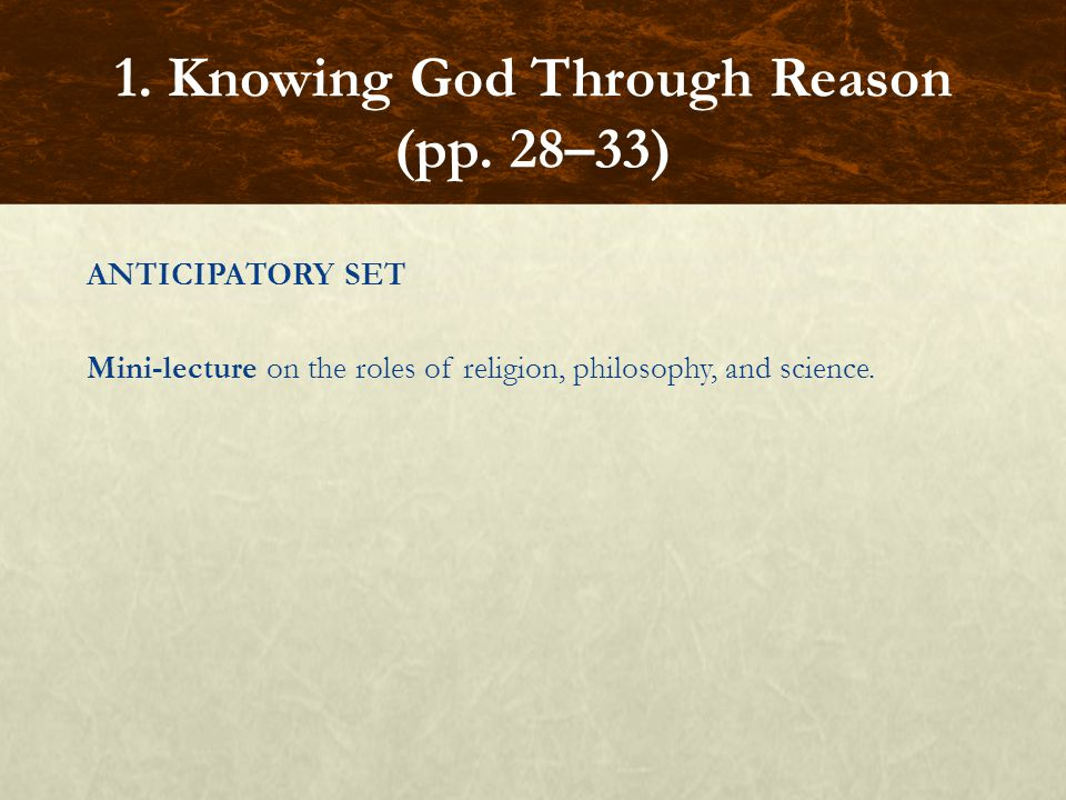 BASIC QUESTIONS  Why does religion exist. Can a person know that God exists through reason.