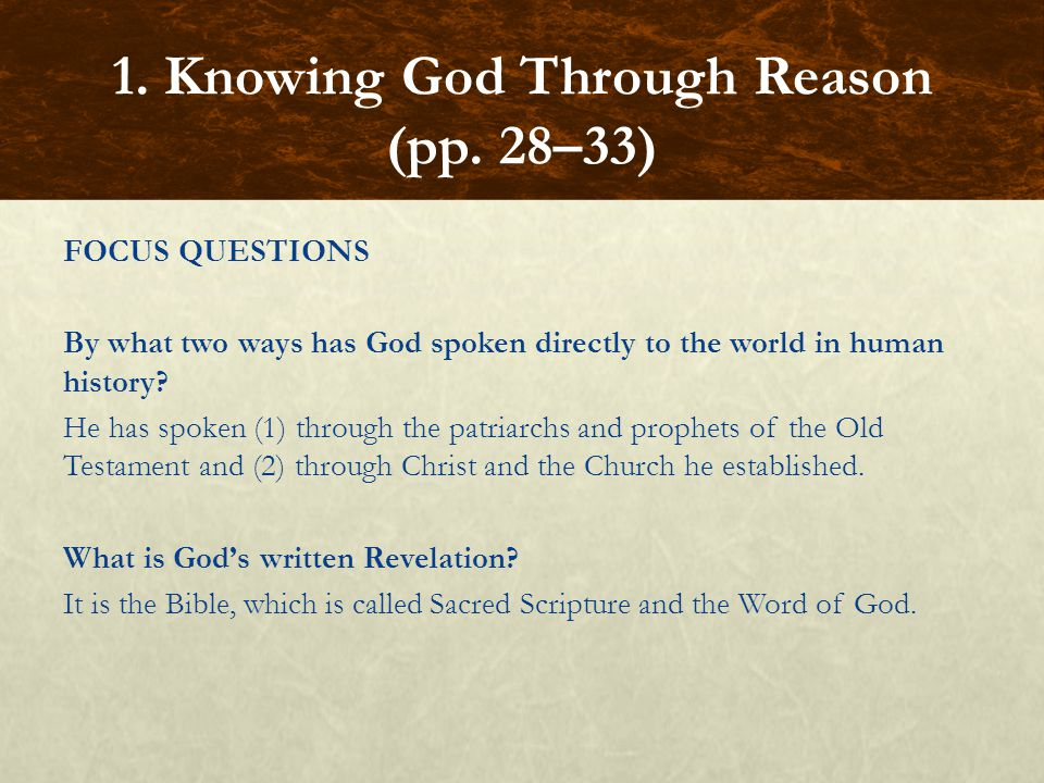 FOCUS QUESTIONS By what two senses of Scripture does the Church interpret it.