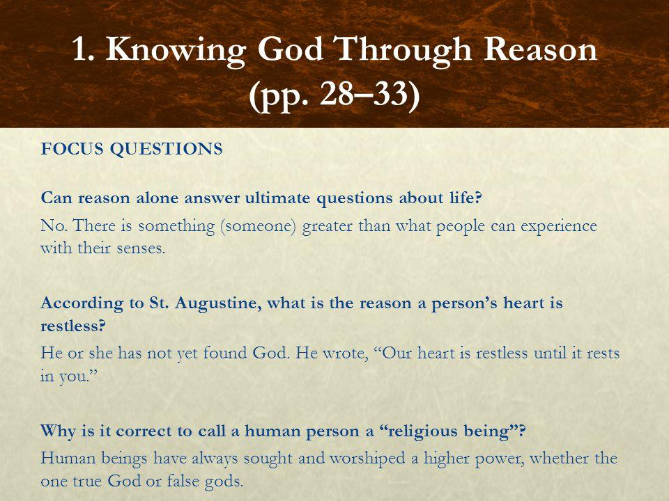 FOCUS QUESTIONS Who was St.Thomas Aquinas.