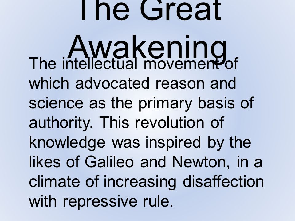 The Great Awakening In colonial America, the frontier in spread out into the wilderness, making both communication and church discipline difficult.