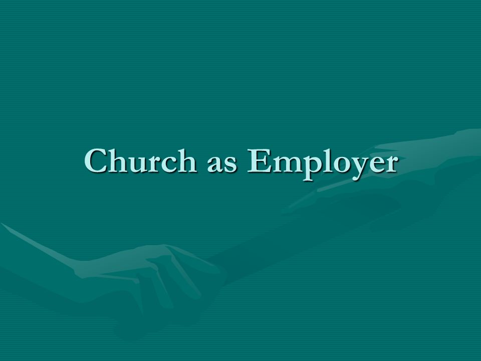 Church as Employer