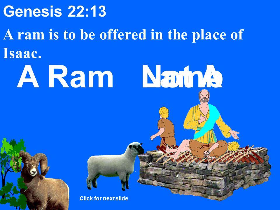 Genesis 22:10-12 Abraham takes the knife to slay Isaac.