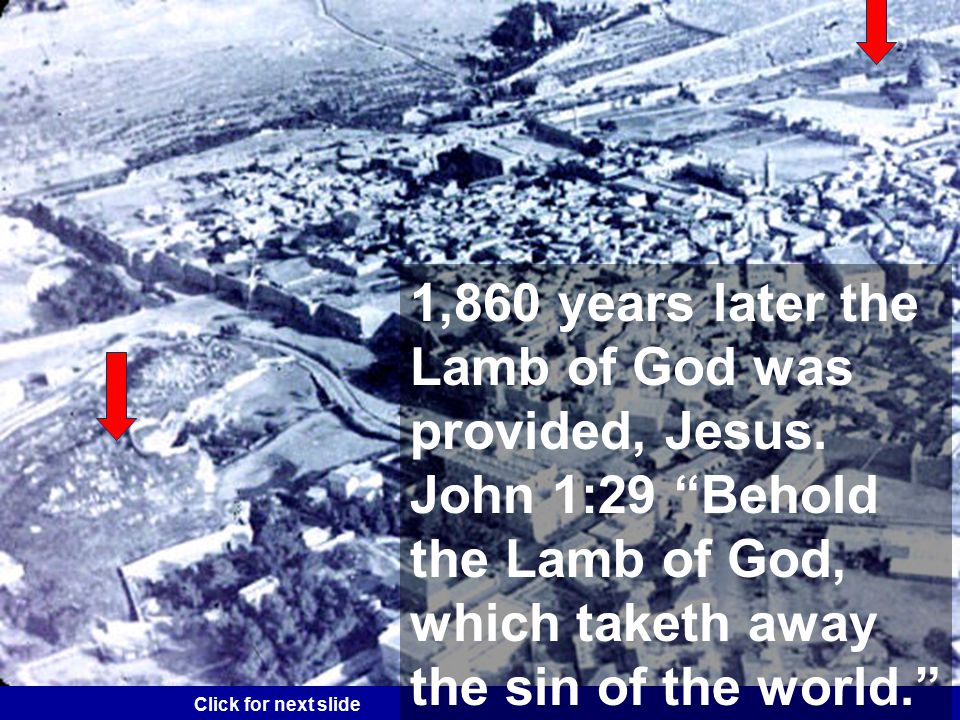Genesis 22:13 A ram is to be offered in the place of Isaac.