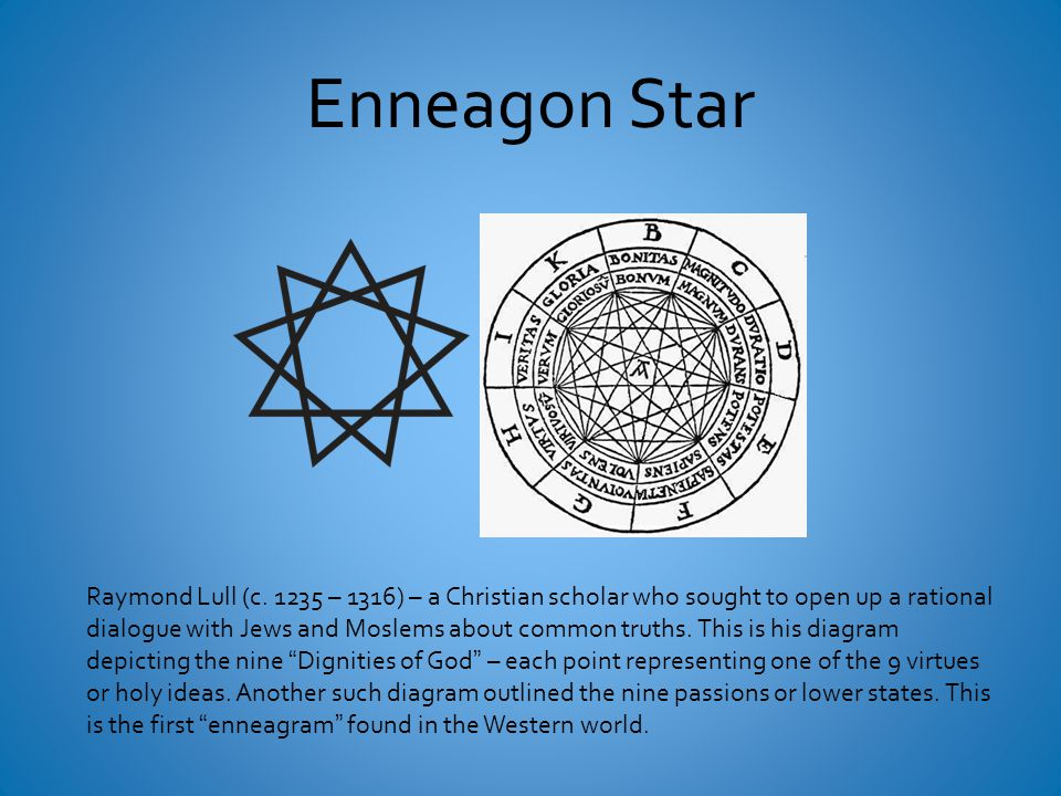 Enneagon Star Raymond Lull (c.