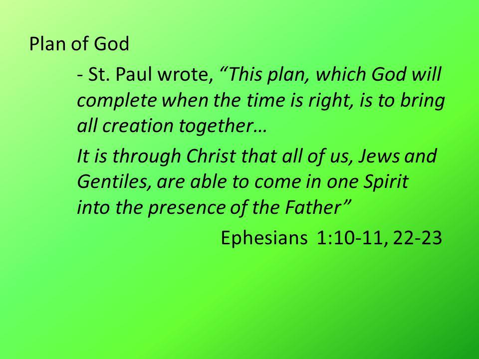 Plan of God - St.