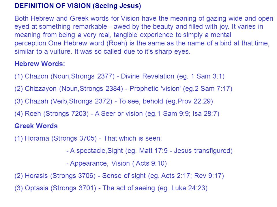 One Vision many callings One Vision Many Callings.