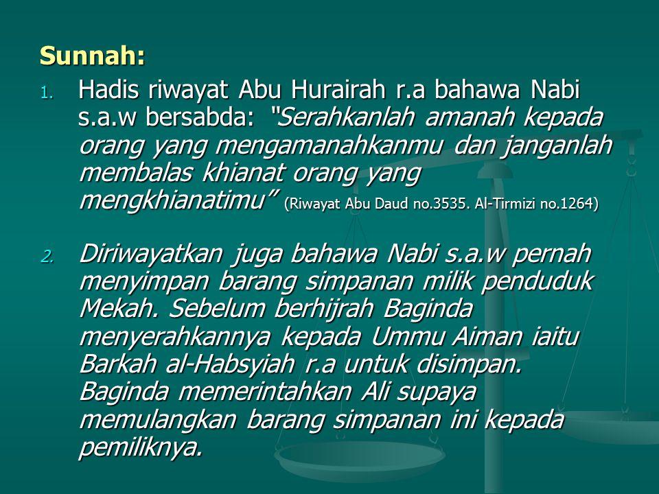 Sunnah: 1.