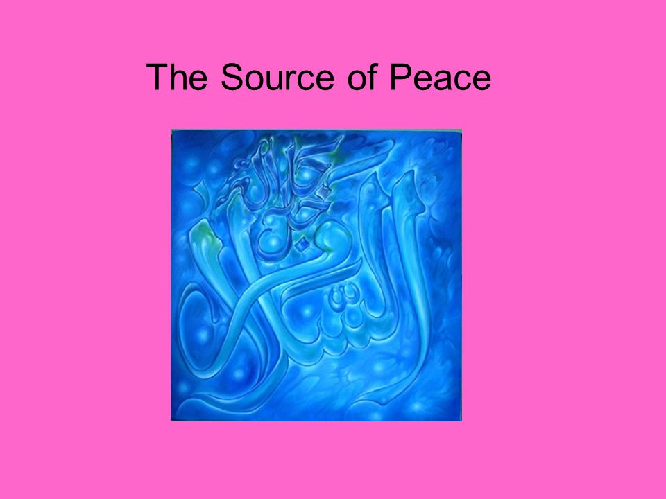 The Source of Peace