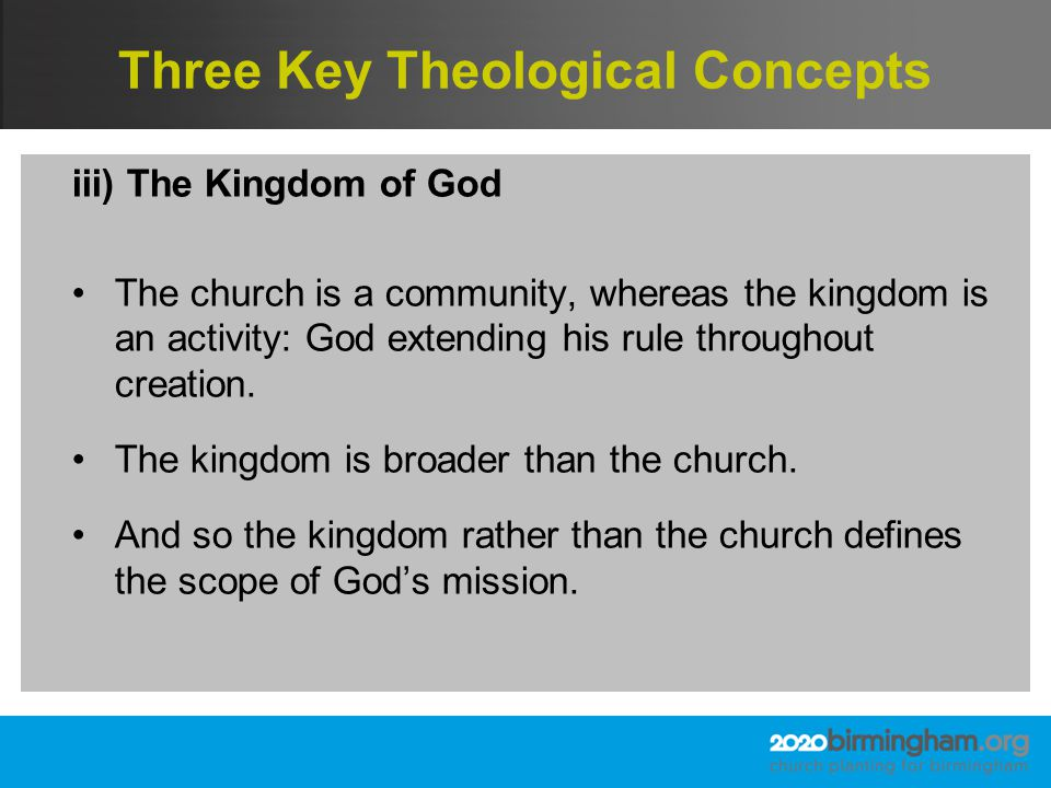 Summary Church planting initiatives are needed which are: Motivated by the privilege of participating in the mission of God Patterned on the incarnational way in which God has acted in mission.