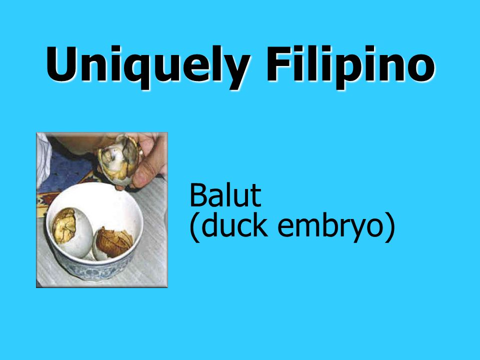 Uniquely Filipino Balut (duck embryo)