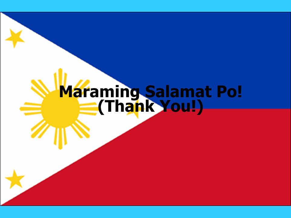 Maraming Salamat Po! (Thank You!)