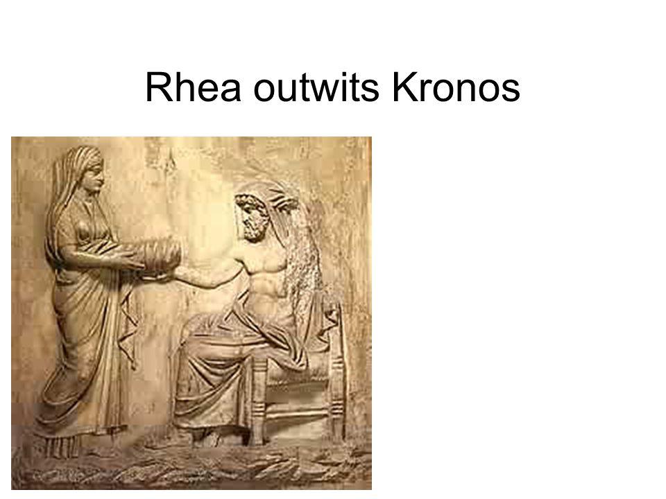 Rhea outwits Kronos