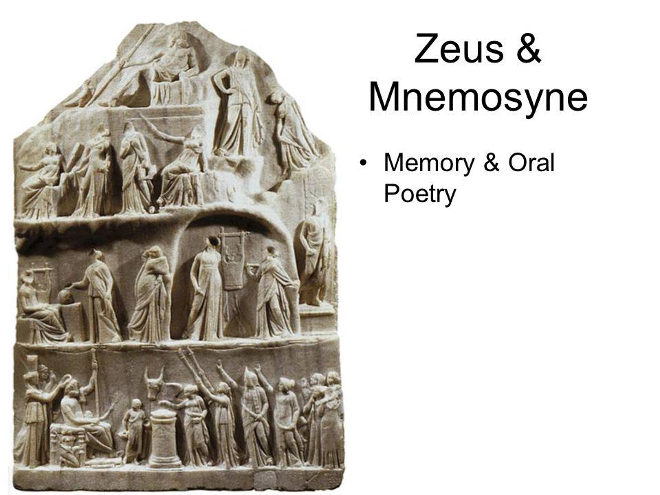 9 nights with Mnemosyne Calliope (Epic) Clio (history) Erato (lyric poetry) Euterpe (pipe/flute) Melpomene (tragedy) Polyhymnia (mime) Terpsichore (dance and light verse) Thalia (comedy) Urania (astronomy)