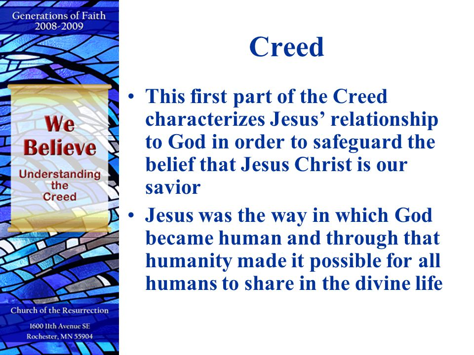 Begotten not made CCC 460…..– For the Son of God became man so that we might become God.