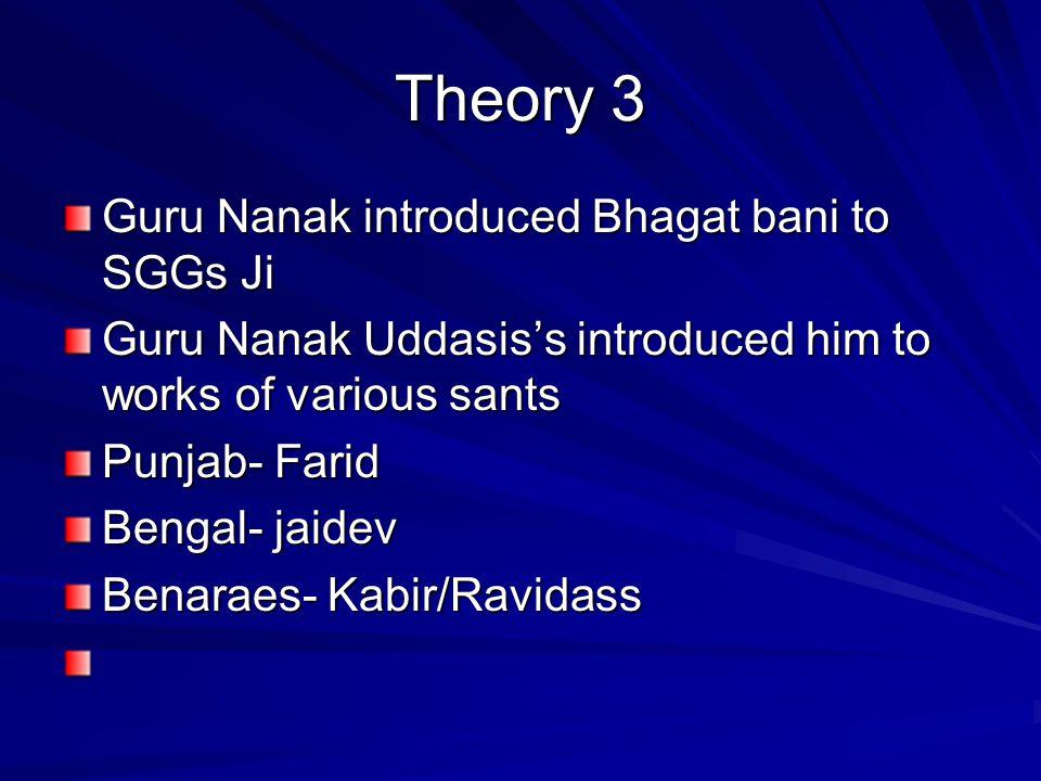Theory 4 Guru Amar das-who was he .