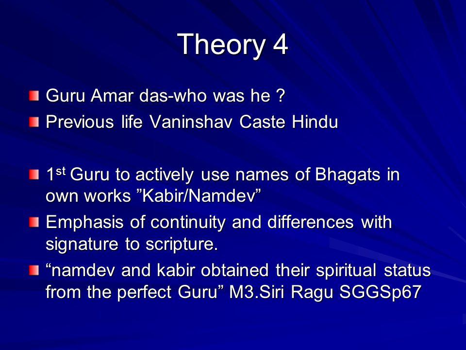 Guru Arjan & Kabir Saints & Sinners: Amar Dass- Every Sinner is a potential Sant.