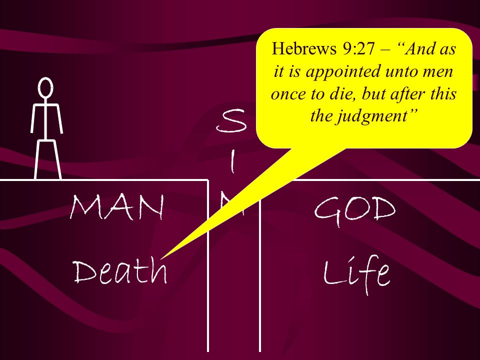 Hebrews 9:27 – And as it is appointed unto men once to die, but after this the judgment
