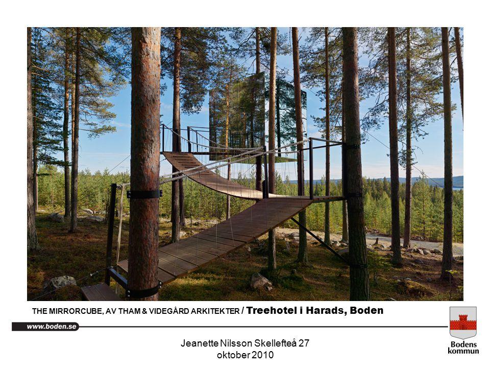 Jeanette Nilsson Skellefteå 27 oktober 2010. THE MIRRORCUBE, AV THAM & VIDEGÅRD ARKITEKTER / Treehotel i Harads, Boden