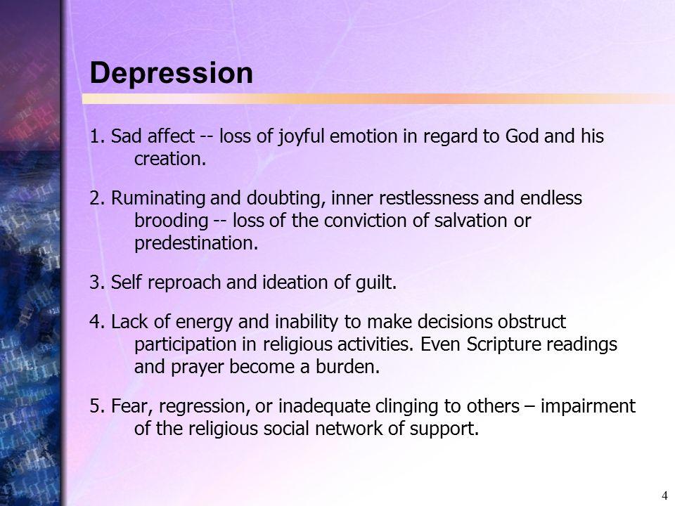 5 Depression II 6.