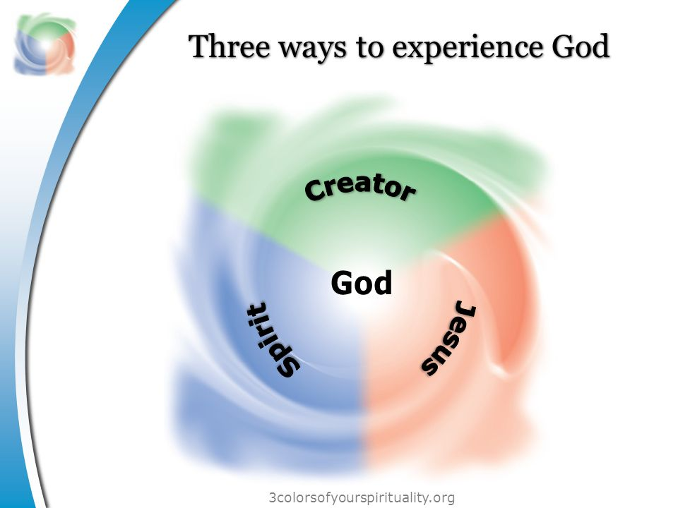 3colorsofyourspirituality.org Three locations to encounter God