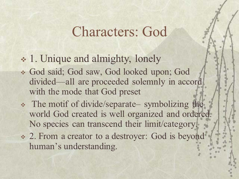 Characters: God  1.
