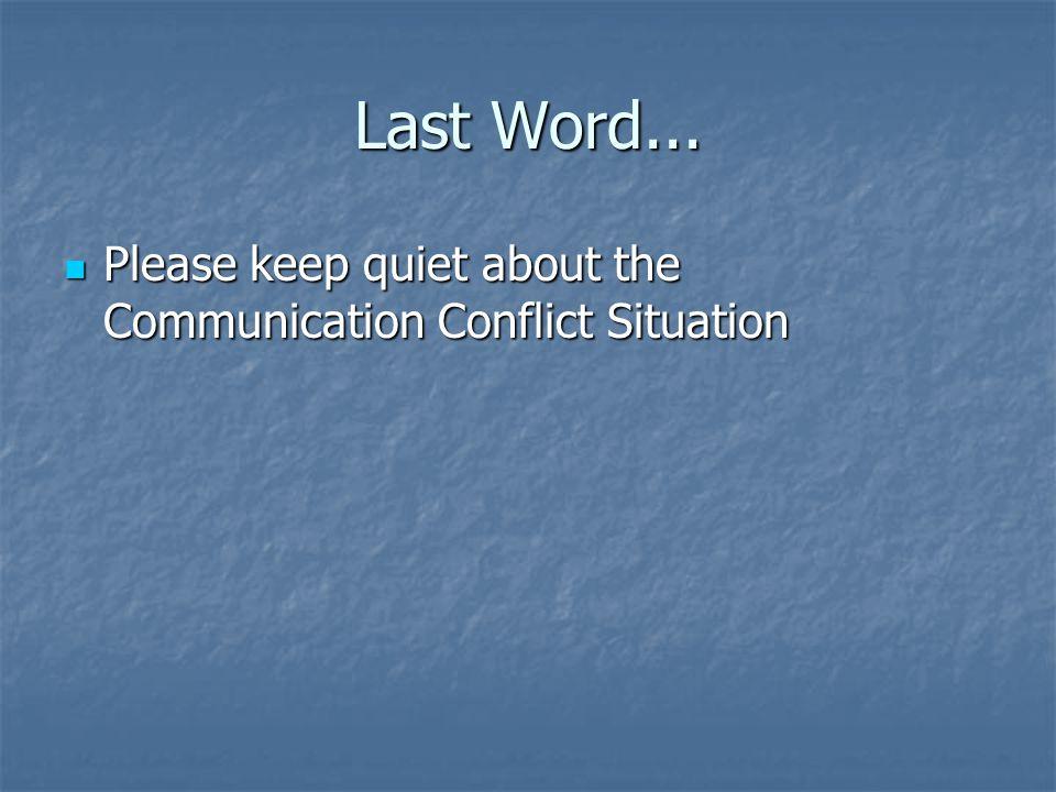 Last Word...
