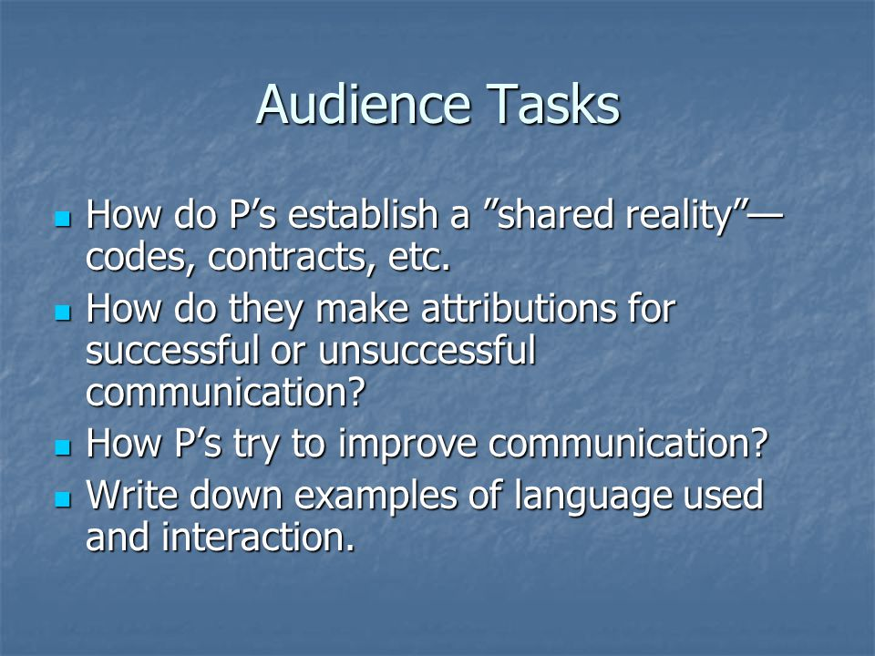 Class Discussion Questions and Thoughts Questions and Thoughts What is successful or good communication.