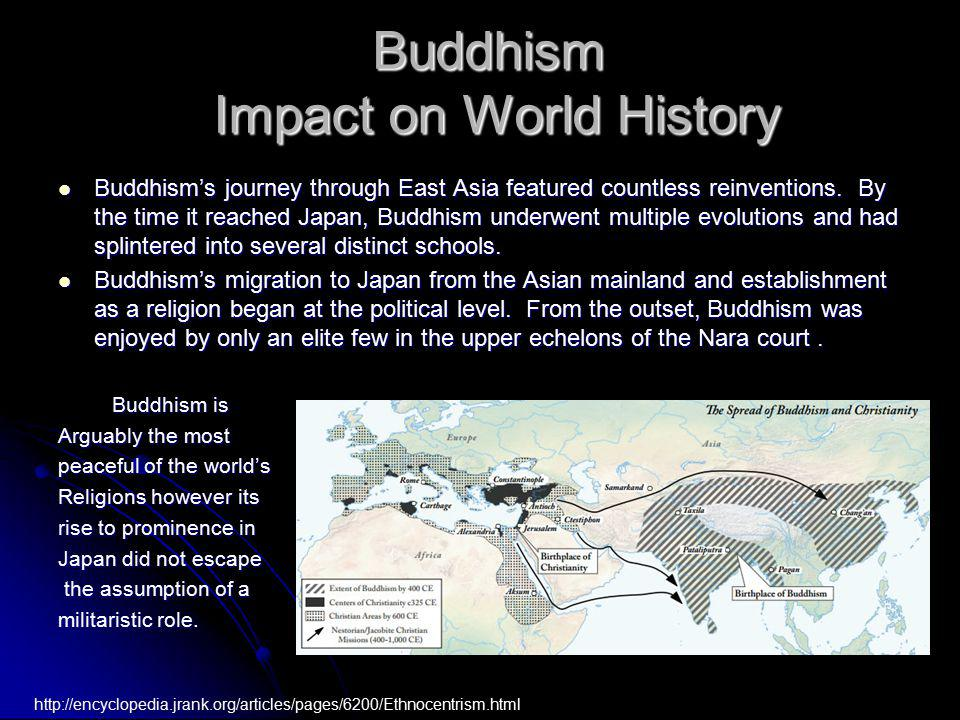 Buddhism's journey through East Asia featured countless reinventions. By the time it reached Japan, Buddhism underwent multiple evolutions and had spl