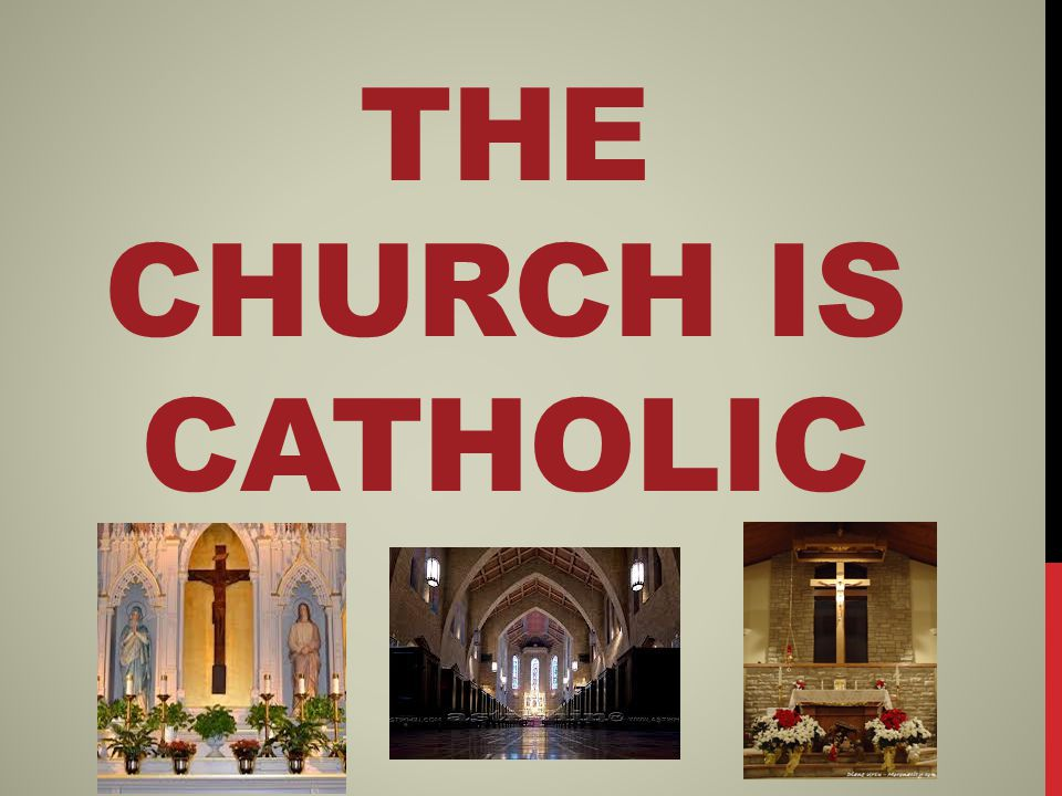 THE CHURCH IS CATHOLIC