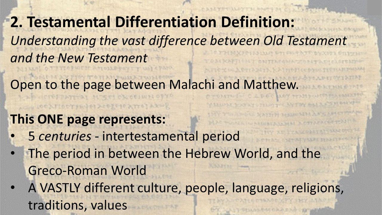 2. Testamental Differentiation Definition: Understanding the vast difference between Old Testament and the New Testament Open to the page between Mala
