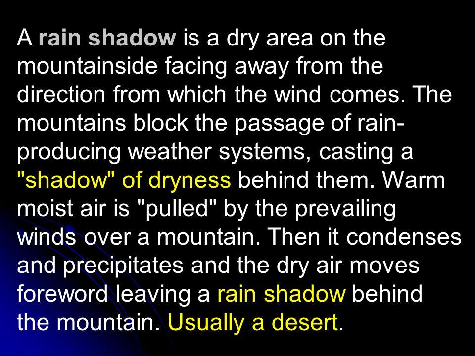 Windward and Leeward Winds Windward Side Leeward Side Rain Shadow
