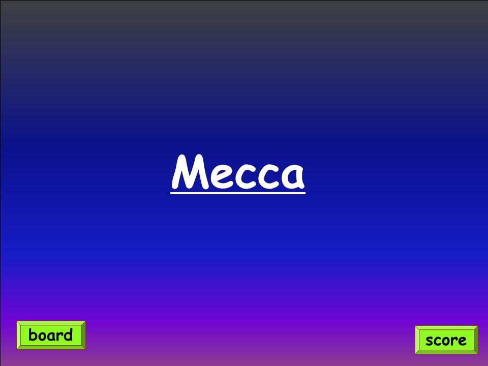 Mecca score board