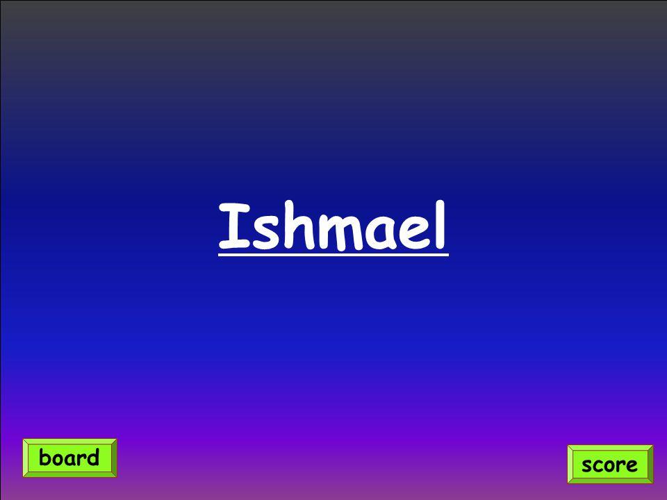 Ishmael score board