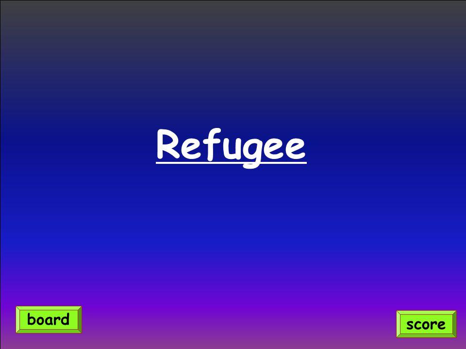 Refugee score board