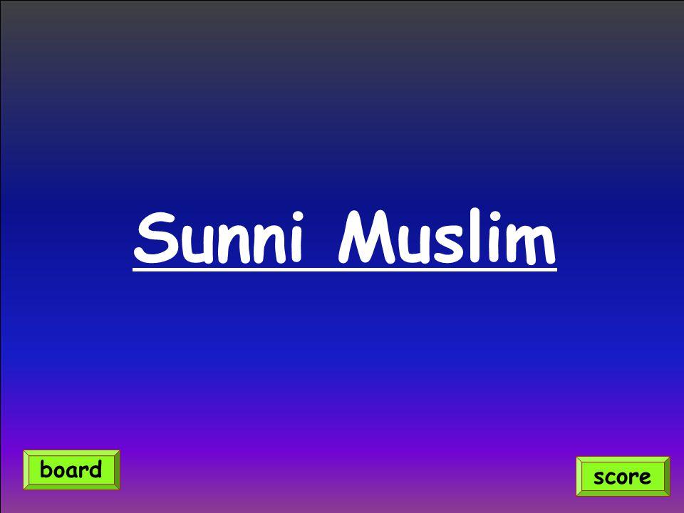 Sunni Muslim score board