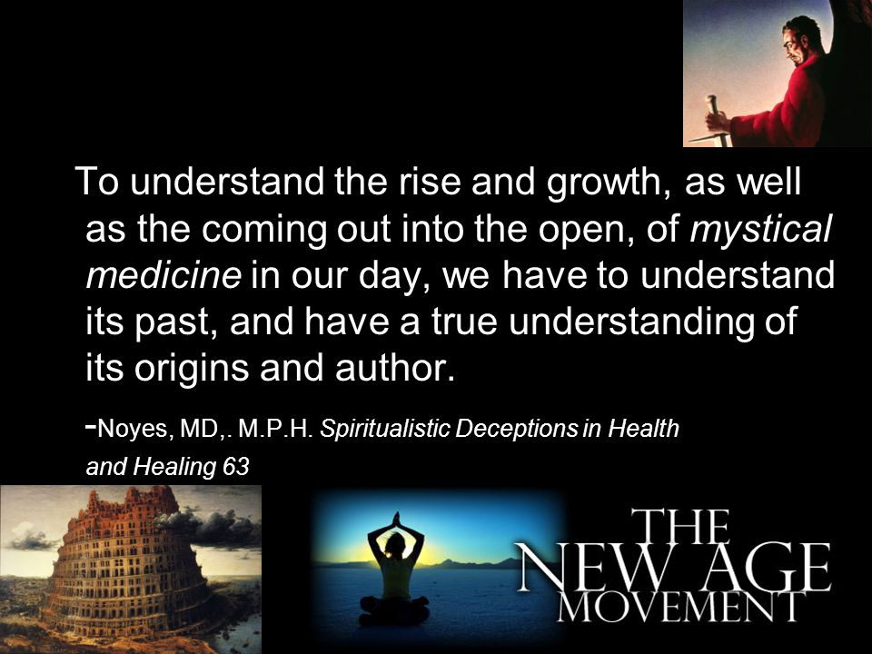 To understand the rise and growth, as well as the coming out into the open, of mystical medicine in our day, we have to understand its past, and have a true understanding of its origins and author.