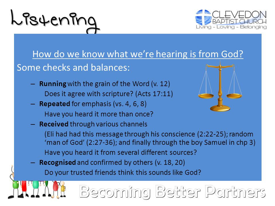 How do we know what we're hearing is from God.