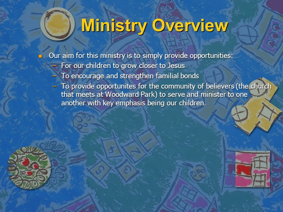 Ministry Overview n God Squad Ministry: n Started over a year ago.