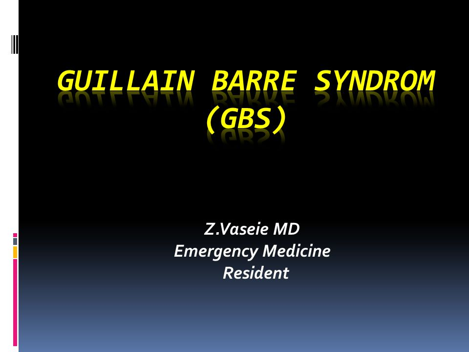 Guillain Barre Syndrom (GBS)  Group of autoimmune conditions involving demyelination and acute axonal degeneration of peripheral nerves  Usually preceded by triggering event, e.g., infection(campylobacter jejuni),vaccination  Leading cause of acute flaccid paralysis,progressive symmetrical ascending weakness + decreased DTR+variable sensory finding +sparing anal sphincter  All ages, but rare in infancy