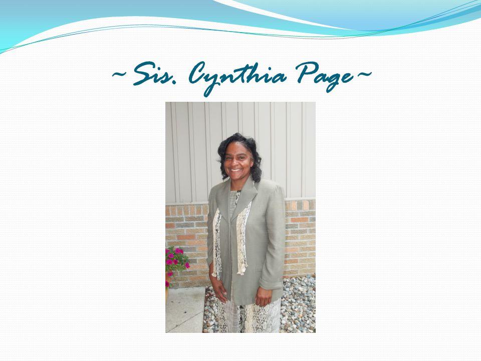 ~Sis. Cynthia Page~