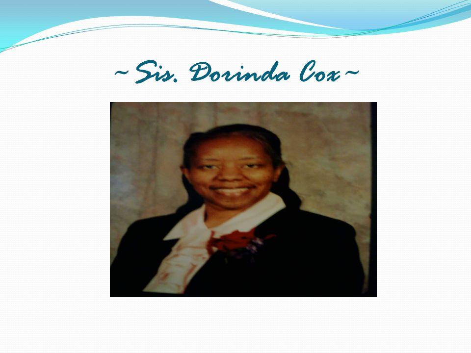 ~Sis. Dorinda Cox~